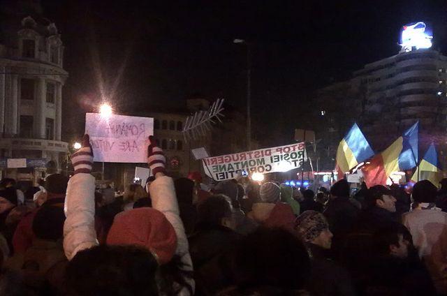 Proteste in Piata Universitatii, Bucuresti