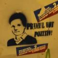768px-Nicuşor_Dan_grafitto,_Primul_Vot_Pozitiv